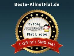 Auszeichnung DeutschlandSIM